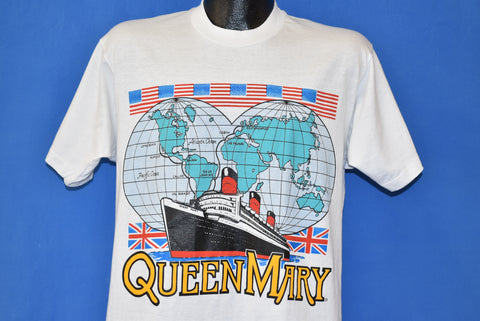 90s Queen Mary British Ocean Liner t-shirt Large