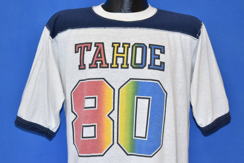 80s Lake Tahoe 1980 Tourist Ringer t-shirt Large