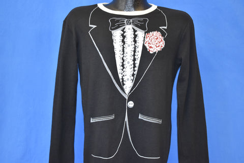80s Tuxedo With Flower And Bow Tie Costume t-shirt Medium