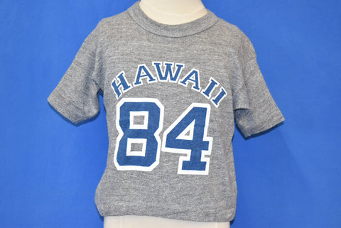80s Hawaii 84 Heather Gray Tourist t-shirt Youth Large