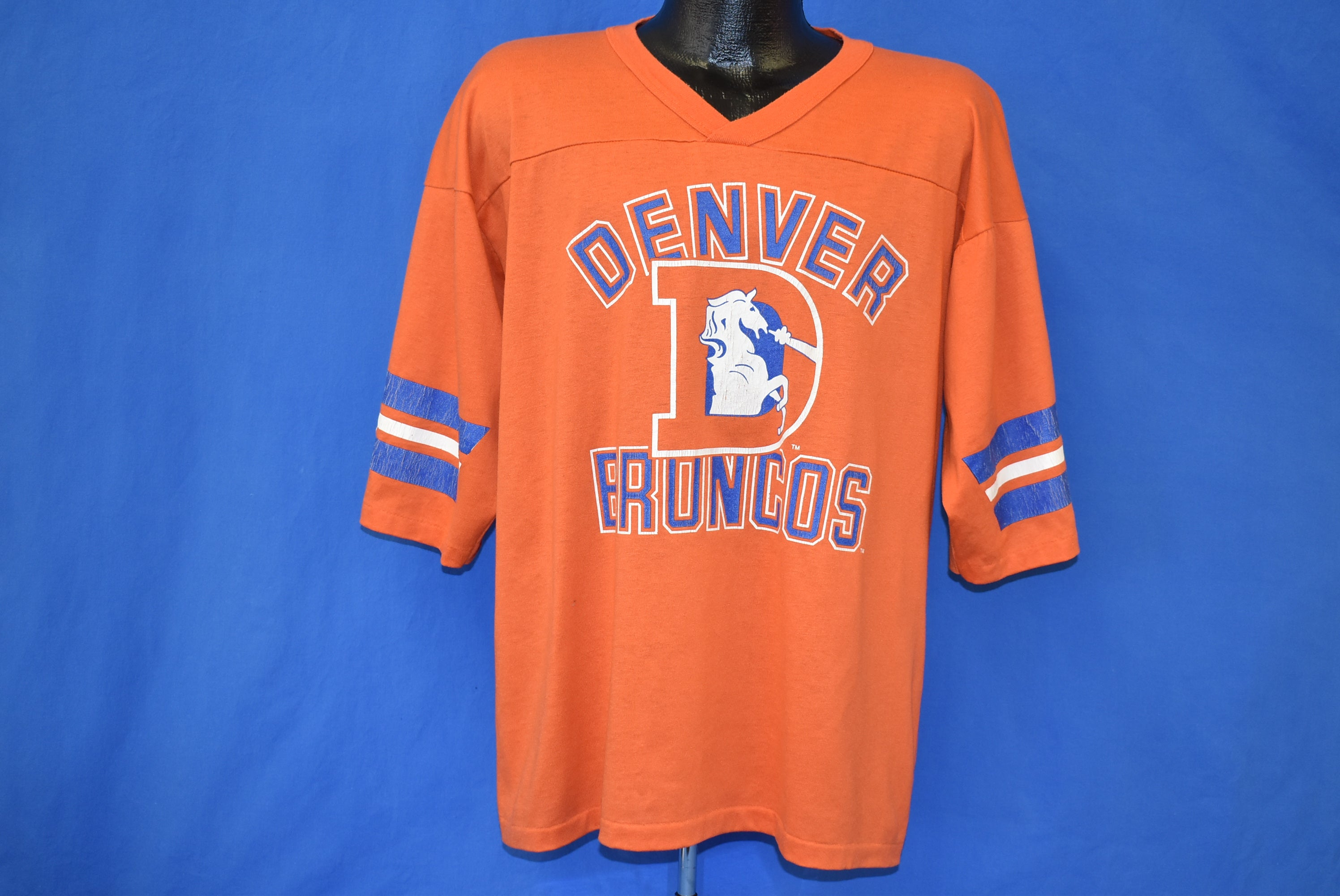 half off 01b87 44cc0 80s Denver Broncos Jersey Style t-shirt Extra Large - The ...