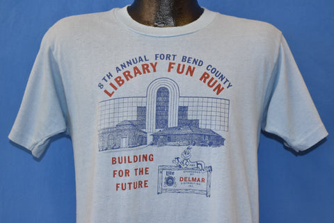 80s Fort Bend County Library Fun Run t-shirt Medium