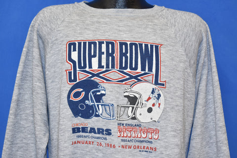 80s Chicago Bears Super Bowl XX Sweatshirt Large