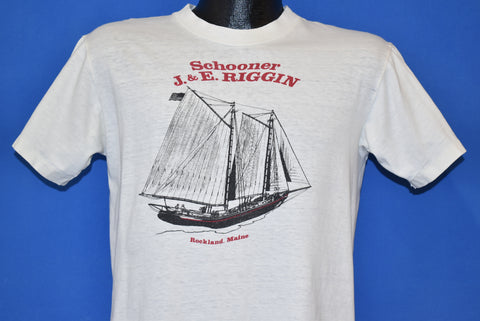90s Schooner J & E Riggin Maine t-shirt Medium