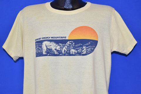 80s Black Bears in the Great Smoky Mountains t-shirt Extra Large