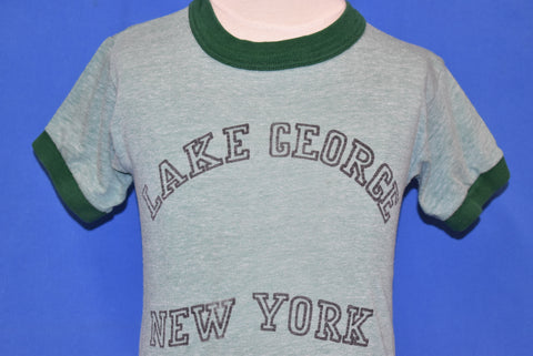 70s Lake George New York Tourist Ringer t-shirt Youth Small
