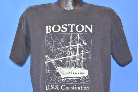 80s Boston U.S.S. Constitution Ship t-shirt Large
