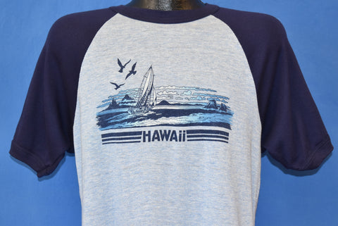 80s Hawaii Tourist Raglan t-shirt Large