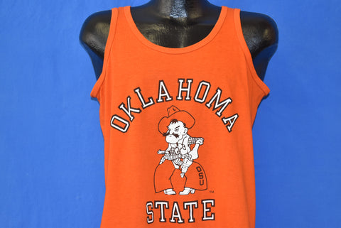 80s Oklahoma State Cowboys Pistol Pete Tank Top t-shirt Large