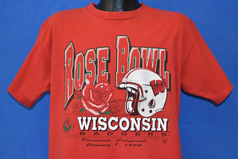 90s Wisconsin Badgers Rose Bowl 1994 t-shirt Large