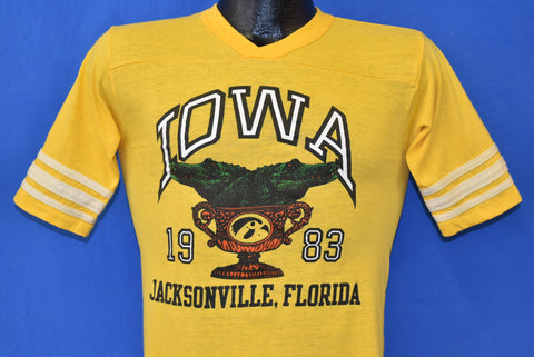 80s Iowa Hawkeyes Gator Bowl 1983 t-shirt Extra Small