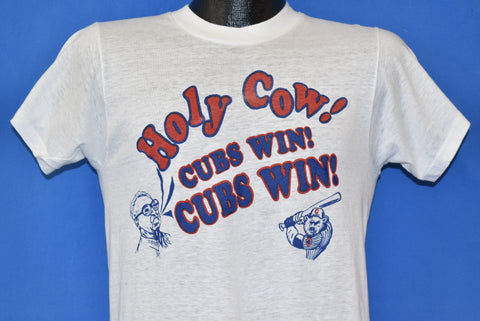 80s Chicago Cubs Holy Cow Cubs Win! t-shirt small