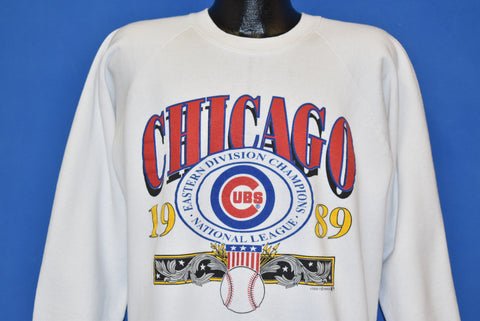 80s Chicago Cubs National League 89 Sweatshirt Large