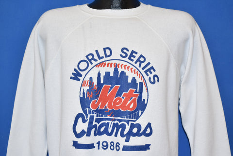 80s New York Mets World Series 1986 Sweatshirt Large