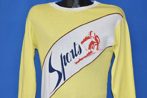 70s Skiing Sports Long Sleeve t-shirt Small