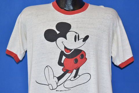 80s Mickey Mouse Ringer t-shirt Large