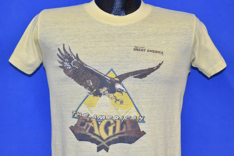 80s American Eagle Six Flags Roller Coaster t-shirt Small