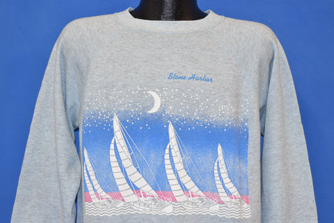 80s Stone Harbor New Jersey Tourist Sweatshirt Large