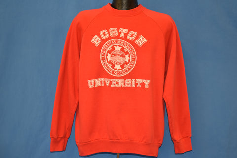 80s Boston University Seal Raglan Sweatshirt Large