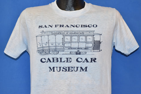 80s San Francisco Cable Car Museum t-shirt Small