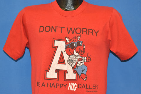 80s Arkansas Razorbacks Don't Worry Be Happy t-shirt Small