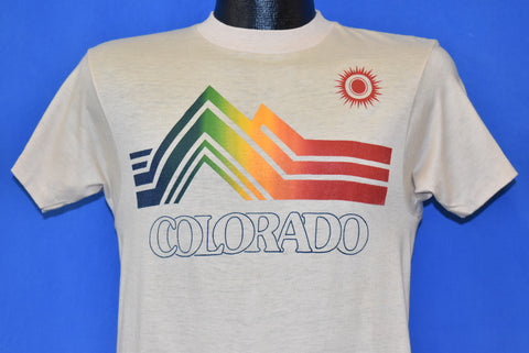 80s Colorado Rainbow Mountain tourist t-shirt Small