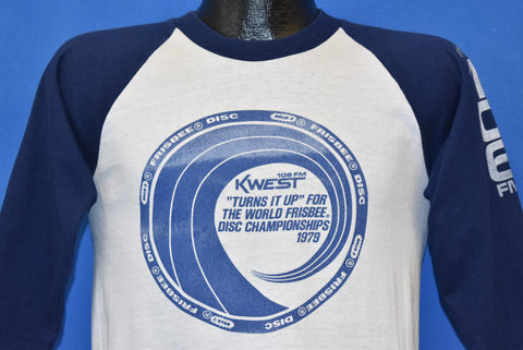 70s KWEST 106 FM World Frisbee Disc Championships 1079 t-shirt Small