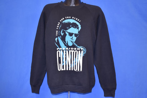 90s President Bill Clinton Saxophone Sweatshirt Large