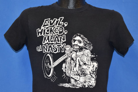 70s Evil, Wicked, Mean, And Nasty Biker t-shirt Small