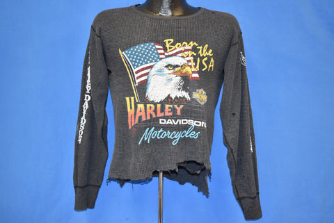 80s Harley Davidson Born In The USA Distressed t-shirt Medium