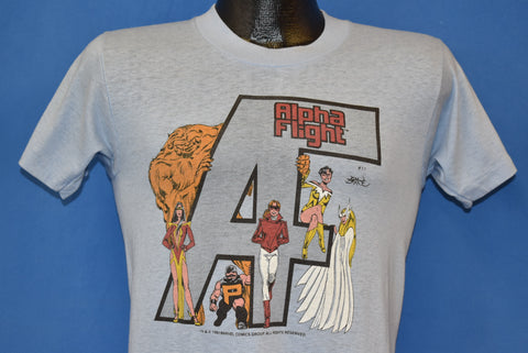 80s Alpha Flight Canadian Superheroes t-shirt Small