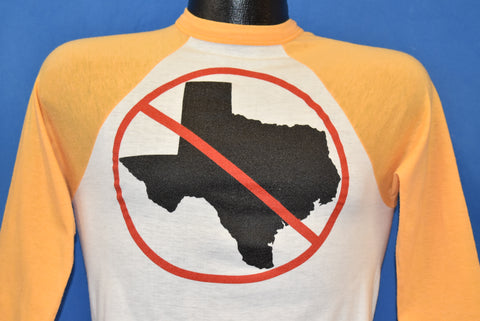 80s Anti Texas Raglan Jersey Style t-shirt Extra Small