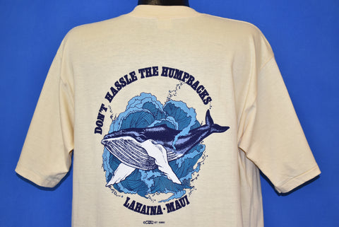 80s Don't Hassle the Humpbacks Whale t-shirt Extra Large