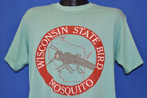 80s Wisconsin State Bird Mosquito Tourist t-shirt Large