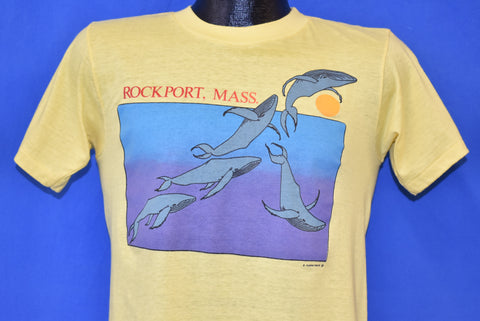 80s Rockport Massachusetts Whale Tourist t-shirt Small