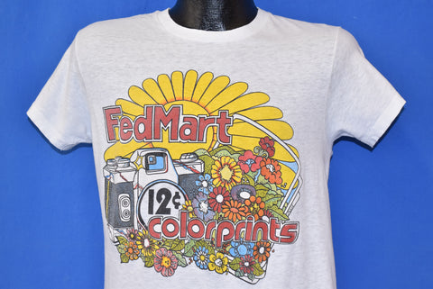 70s FedMart Color Prints Film Flowers t-shirt Medium
