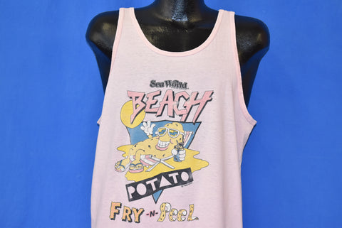 80s Sea World Beach Potato Tank Top t-shirt Extra Large