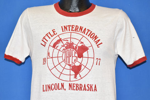 70s Little International Lincoln Nebraska Ringer t-shirt Small