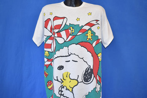 90s Snoopy Woodstock Christmas Sleep t-shirt XL