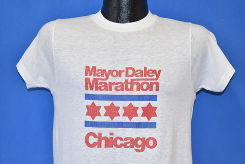 70s Mayor Daley Chicago Marathon t-shirt Small