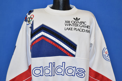 80s Lake Placid Olympics XIII Winter Games Sweatshirt Extra Large
