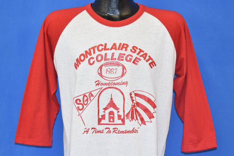 80s Montclair State Red Hawks Homecoming '87 t-shirt Large