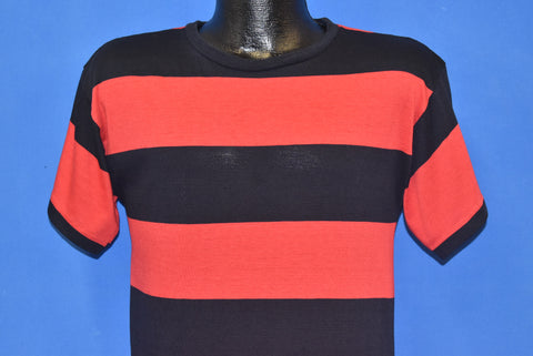 80s Black And Red Wide Stripe t-shirt Youth Large