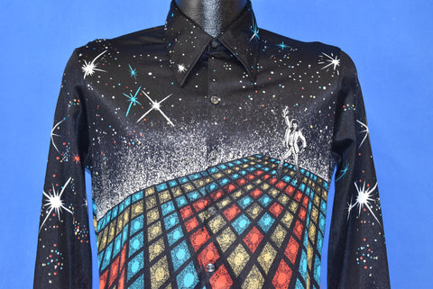 70s Saturday Night Fever Two Sided Disco Shirt Medium