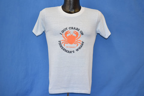 70s I Got Crabs On Fisherman's Warf San Francisco t-shirt Small