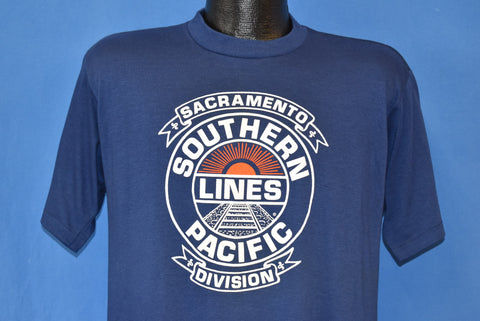 80s Southern Pacific Lines Sacramento Railroad t-shirt Large
