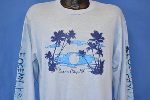 80s Ocean City Maryland Sunset Long Sleeve t-shirt Large