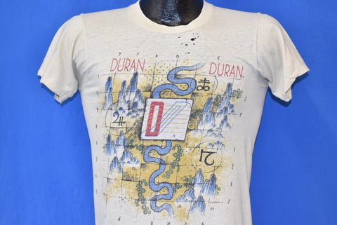 80s Duran Duran Sing Blue Silver Tour Distressed t-shirt Small