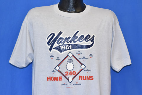 80s NY Yankees 1961 Homer Record t-shirt Large