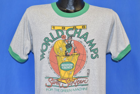 80s Boston Celtics 1986 NBA Champs t-shirt Medium